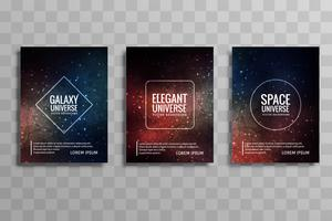 cartes de brochure pour le vecteur univers moderne galaxie défini vecteur