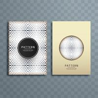 Abstract dotted pattern brochure design illustration