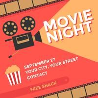 Movie Night Poster Vector