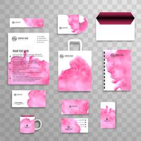 Modern business stationery set vector