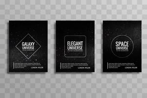 modern galax universum vektor broschyr kort sätta vektor