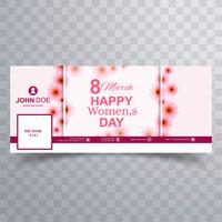 Illustration de couverture facebook Happy Women's Day célébration