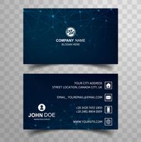 Abstract business card template with polygon design vector