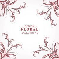 Modern floral pattern background