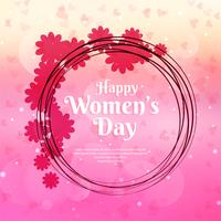 Stylish women's day background illustration