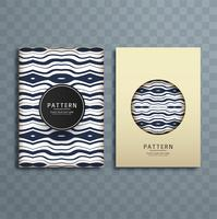 abstract retro pattern brochure design