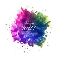 illustration de fond coloré de happy holi pour le festival de c