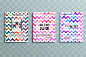 modern colorful business brochure set