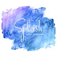 Modern hand drawn blue watercolor splash background vector
