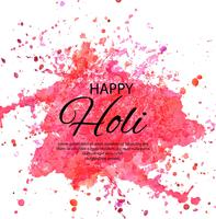Happy Holi Indian spring festival of colors greeting vector back