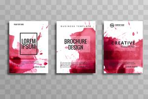 Abstract vector brochure aquarel ingesteld sjabloon. Flyer lay-out d