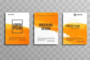 Abstract watercolor business brochure set design