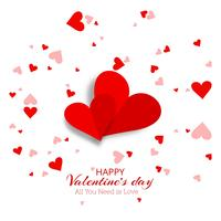 Beautiful hearts valentine's day card vector design