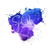 Abstract brush stroke for design and colorful watercolor splash