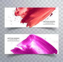 abstract hand drawn colorful watercolor stroke design vector