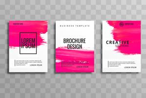 Abstract watercolor stroke business brochure card set