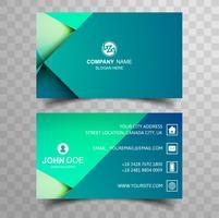Kreativt och rent dubbelsidigt visitkort färgstarkt mall