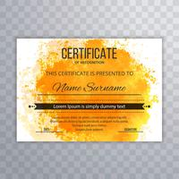Certificate Premium template awards diploma background with colo