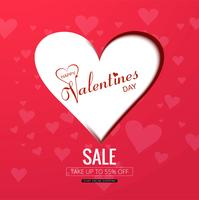 Happy valentine's day creative sale background illustration