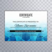 Certificate Premium template awards diploma creative blue polygo