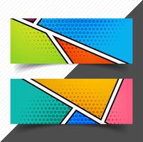 Abstract empty header set template colorful design