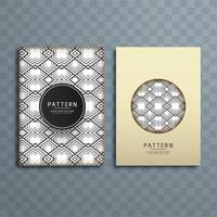 Abstract creative pattern brochure design