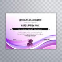 Abstract colorful wave design template certificate background