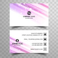 Modern bright business card template design vector