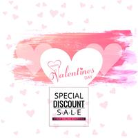 Valentines day sale beautiful background illustration