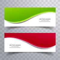 Banner background modern template colorful wave design vector