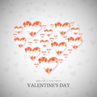 Modern valentine's day hearts decorative background
