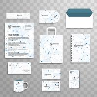 Abstract classic corporate identity business stationery template