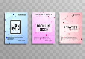 Abstract polygonal business brochure set vector