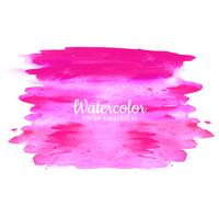pink watercolor strokes on white