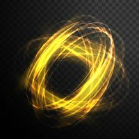 Abstract magic glowing swirl transparent light effect. Bright sh