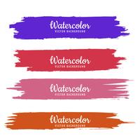 Modern colorful watercolor stroke set