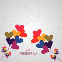 Happy Valentine's day colorful hearts love tree background