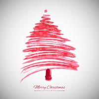 Modern merry chirstmas tree background