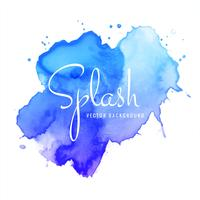 abstract hand drawn blue watercolor splash background vector