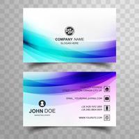 Diseño moderno colorido de la plantilla de la tarjeta de visita