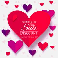 Beautiful hearts valentine's day sale background illustration