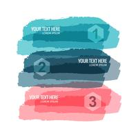 Modern watercolor banners set