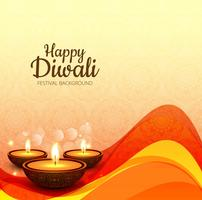 Beautiful diwali wave background