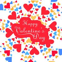 Happy Valentine's day colorful hearts love card design