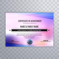 Certificate of appreciation template with colorful design