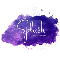 Beautiful colorful watercolor splash background vector
