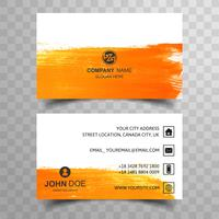 Modern colorful watercolor business card template vector