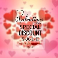 Valentines day colorful hearts sale background design vector