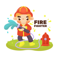 Firefighter-vector
