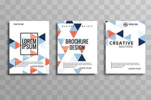 Abstract creative geometric colorful  brochure flyer design illu